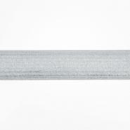 Elastikband, dekorativ, 50mm, 19252-1101, silbern