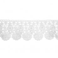 Čipka, 80mm, cvetlični, 18945-003, smetana