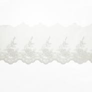 Čipka, vezena, 85 mm, 19254-001, bijela