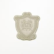Aufnäher, Wappen, 19265-024, beige