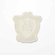 Aufnäher, Wappen, 19265-003, sahne