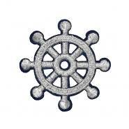 Aufnäher, Meer, 19269-002, silbern