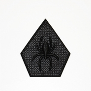 Našitek, pajek, 19272, črna