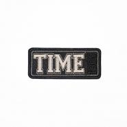 Našitek, Time, 19274-008, črna