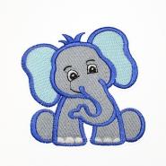 Aufnäher, Elefant, 19277-016, blau