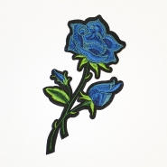 Aufnäher, Rose, 18940-019, blau