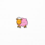 Gumb, les, ovca, 19300-009, ružičasta