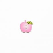 Gumb, les, jabuka, 19304-015, ružičasta