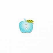 Gumb, les, jabolko, 19304-016, modra