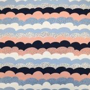 Jersey, bombaž, tisk, 19315-880, roza modra