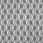 Čipka, elastična, cvetlični, 19138-054, siva