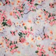 Tkanina, cvjetni, 19144-042, ljubičasta