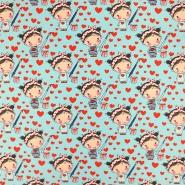 Jersey, Baumwolle, für Kinder, 19165-022, türkis