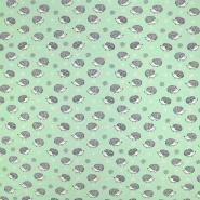 Jersey, bombaž, živalski, 19186-023, zelena