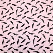 Bombaž, poplin, peresa, 19322-011, roza