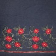 Jeans, srajčni, vezen, cvetlični, 19323-008, modra