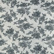 Tkanina, elastična, cvetlični, 19327-069