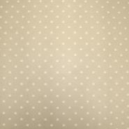 Chiffon, Polyester, Punkte, 19329-052, beige