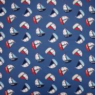 Jersey, bombaž, morski, 19332-007, modra