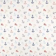 Jersey, bombaž, morski, 19333-050, bela