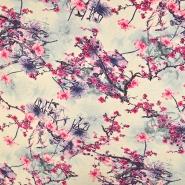 Jersey, viskoza, digital, cvetlični, 19334-017