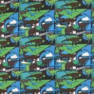 Jersey, bombaž, živalski, 19340-054, modro zelena
