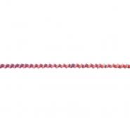 Elastikband, rund, 6mm, 19219-44423, rosa-blau