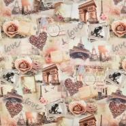 Jersey, bombaž, digital, romantični, 16276-267