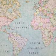Deko, tisk, zemljevid, 19370, modra