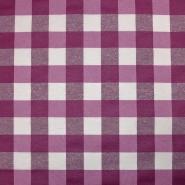 Deko, imprägniert, Karo, 19373-2, violett