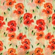 Jersey, viskoza, digital, cvetlični, 19389-38
