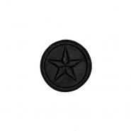 Prišivak, umjetna koža, zvijezda, 19273-000, crna