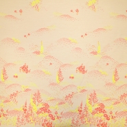 Jacquard, floral, 19397-2, beige-rot