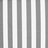 Tenda, pamuk, pruge, 18401-3, bijelo-siva