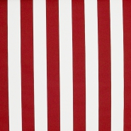 Markise, Baumwolle, Streifen, 18401-4, rot-weiß