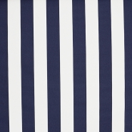 Tenda, bombaž, črte, 18401-5, modro bela