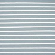 Jersey, bombaž, črte, 17104-3, siva