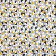 Bombaž, poplin, geometrijski, 16373-8