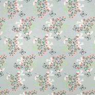 Jersey, pamuk, cvjetni, 19498-29, siva