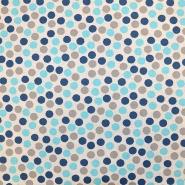 Deko, tisak, impregniran, točke, 18277-6037, plava