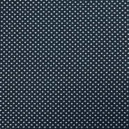 Tkanina, elastična, pike, 19148-008, temno modra