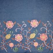 Jeans, košulja, vezen, cvjetni, 19513-002, plava