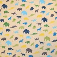 Bombaž, poplin, živalski, 19536-004
