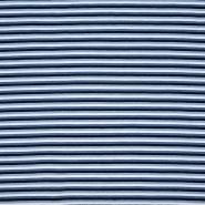 Jersey, pamuk, pruge, 19535-003, plava