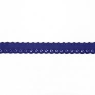 Spitze, gestickt, 19557-019, blau