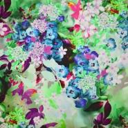Tkanina, viskoza, cvetlični, 19538-4, zelena