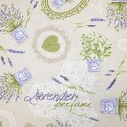 Deko, tisk, impregniran, romantični, 19207-6060