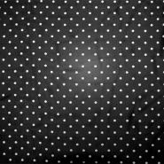 Chiffon, Polyester, Punkte, 19329-069, schwarz