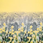 Šifon, poliester, cvetlični, 19546-6, rumena