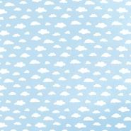 Bombaž, poplin, oblaki, 18421-8, modra